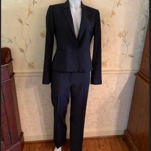 Ann Taylor 2 pc Black Wool Suit (Jacket & Pants)